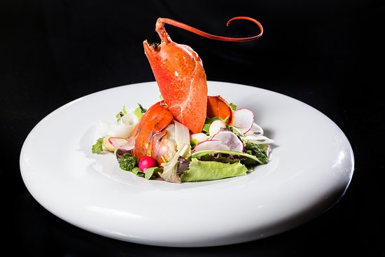 AdLib: Lobster - White Asparagus Salad with Radish and Wild Garlic Pesto