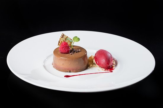 AdLib: Valrohna Chocolate with Raspberry Sorbet