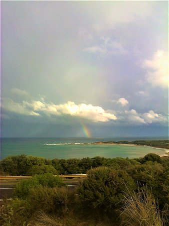 Loveridge Lookout : Gorgeous Rainbow appeared over Point Roadknight. View from Lookout [June 2018]
