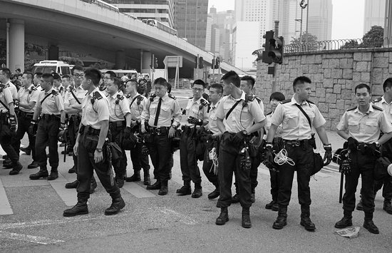 J3 Private Tours Hong Kong: Riot Police, HK Occupy Protests, 2014, Hong Kong