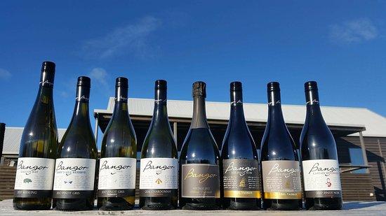 Dunalley, Australien: wine line up