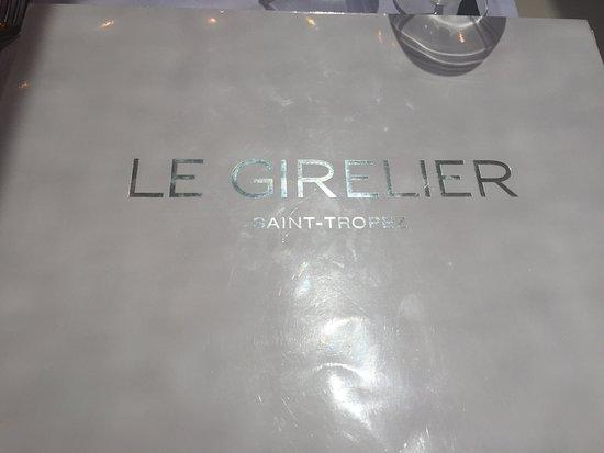 Le Girelier: Menu