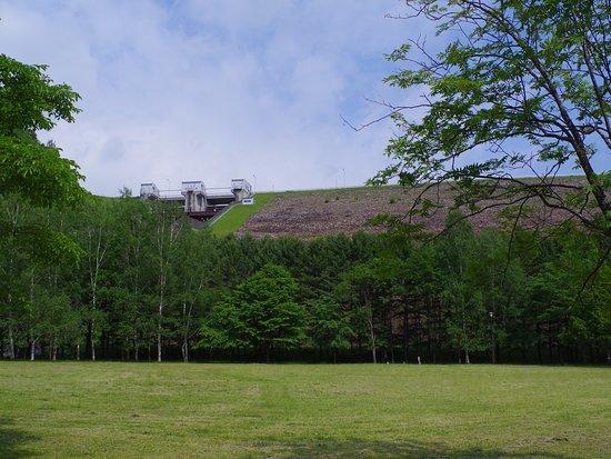 新得町, 北海道, 2018年6月撮影・堤体下