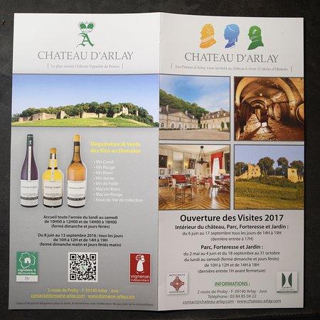 Le flyer du Château d'Arlay