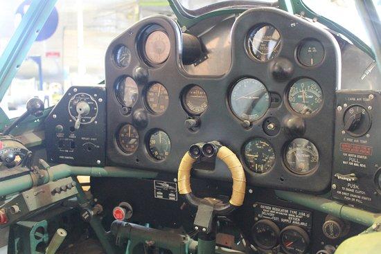 B-24 Liberator Memorial Restoration Australia: CAC CA-13 Boomerang cockpit