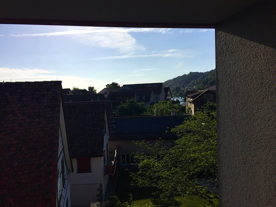 Berlingen, Schweiz: Blick richtung See vom Balkon aus