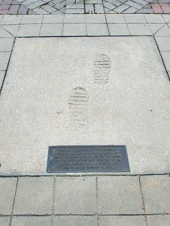 Apollo Moonprints in Cement