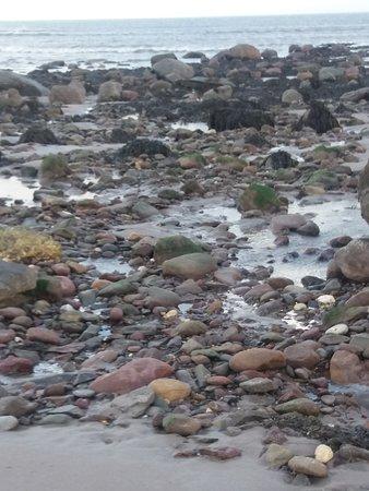 Banna Strand: Kamienista część plaży.