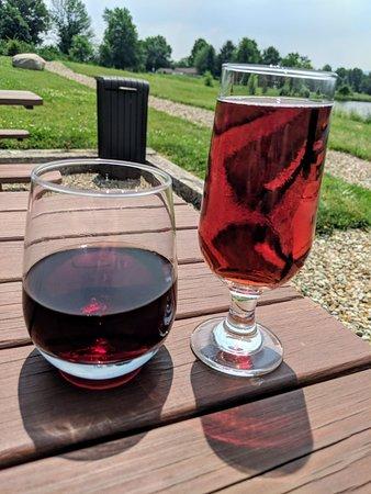 Bent Ladder: Drinking wine and cider