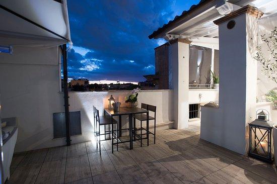 Terrace Pantheon Relais: La nostra terrazza alla sera
