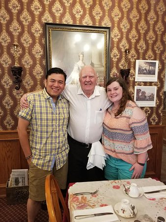 My husband and I with one of the owners.