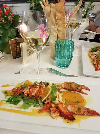 L'Antica Trattoria: This was the lobster main course. Wonderfully presented.