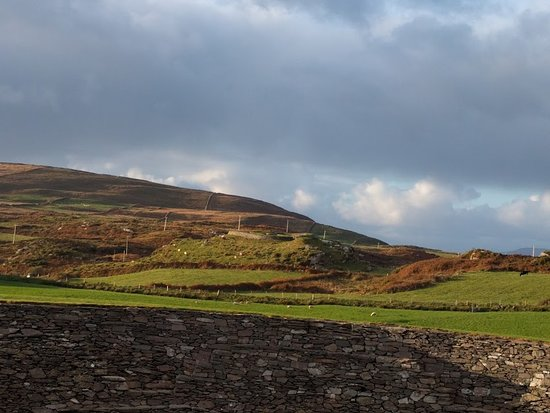 Cahergall Fort: view from the top of the fort