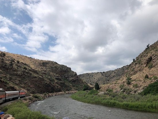 Royal Gorge Route Railroad: The Arkansas River from our train