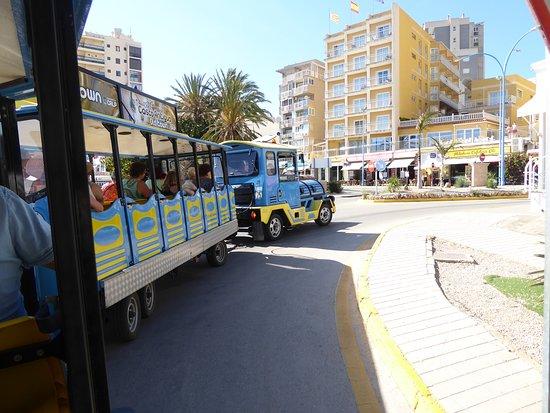 Tren Turistico Calpe: Tomando una curva