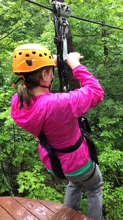 CLIMB Works Smoky Mountains: Taking off from the deck!