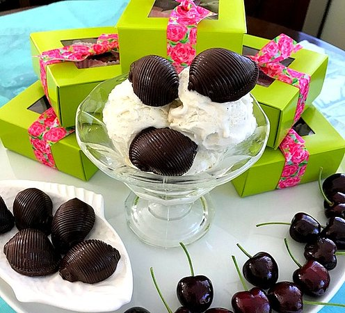 """Sugar Marsh Cottage: Dark Chocolate """"Cherry Bombs"""" for 4th of July!"""