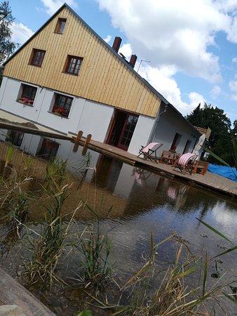 Krásná Lípa, Česká republika: Natural swimming lake