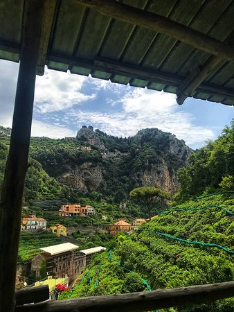 Amalfi Lemon Experience: View from the top of the location.