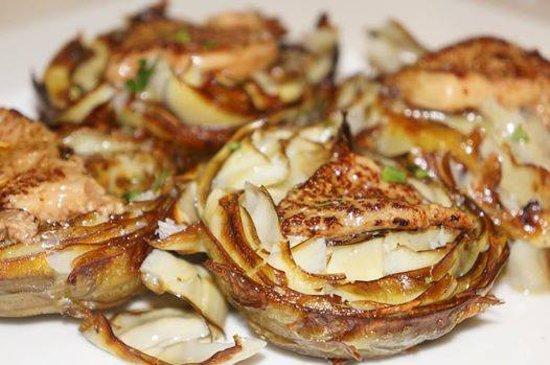 Restaurante Graciano: Alcachofas en flor confitadas con foie