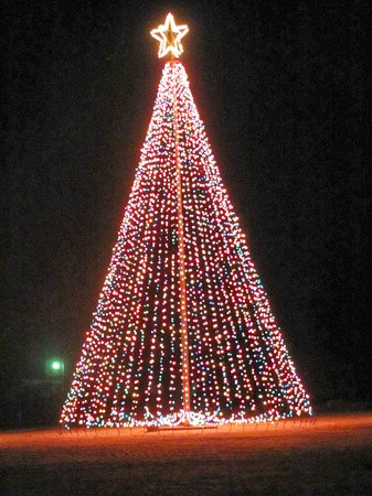 Mexico, MO: A.P.Green Flag pole at Christmas time... .. . by Carl H.    =)~