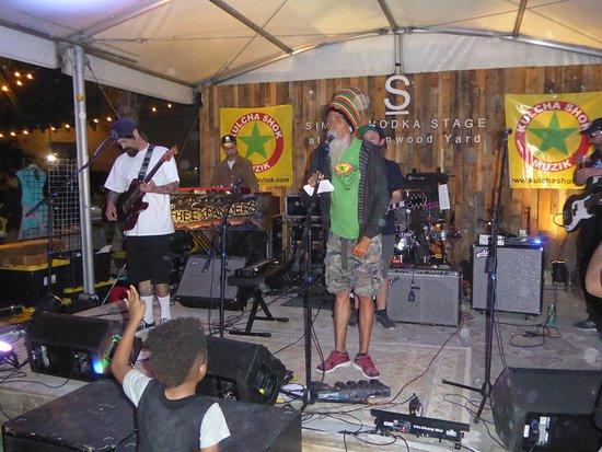 The Wynwood Yard: The Stage @ Wynwood Yard with the Reggae Band