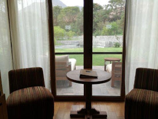 Tambo del Inka, a Luxury Collection Resort & Spa: Vista de la terraza desde la habitación