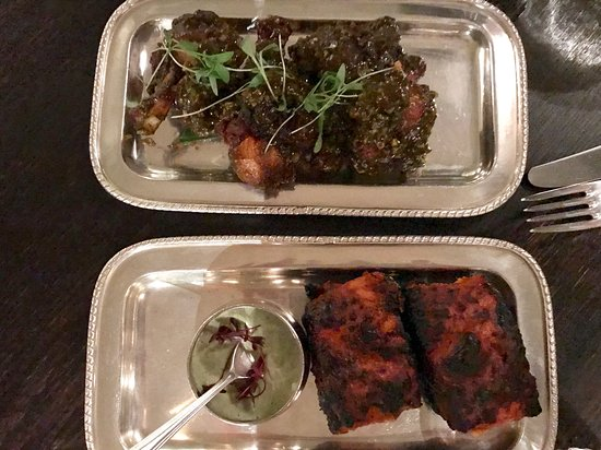 Gymkhana: Imli chicken wings, Fish tikka