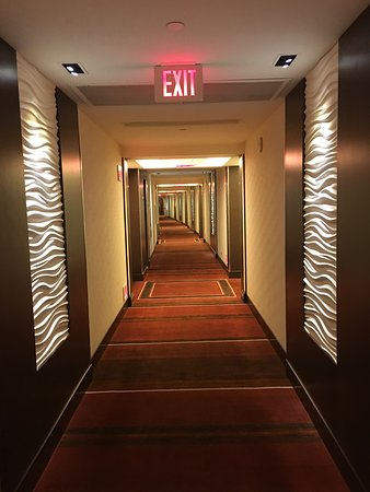 Red Rock Casino Resort & Spa: One of the long hallways.