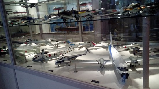 Mitsubishi Minatomirai Industrial Museum: models of past war and commercial planes-- all kids and kids-at-heart would love this!
