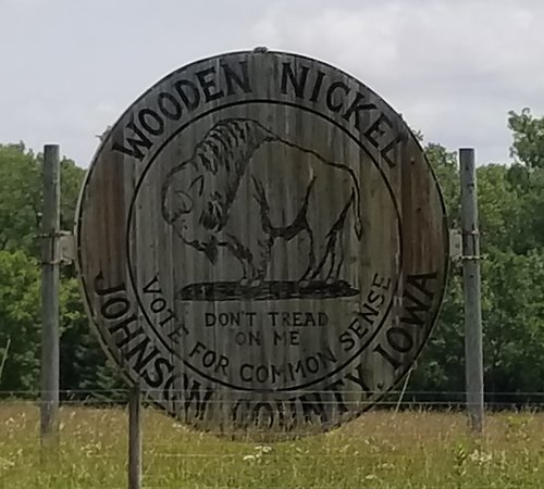 World's Largest Wooden Nickel