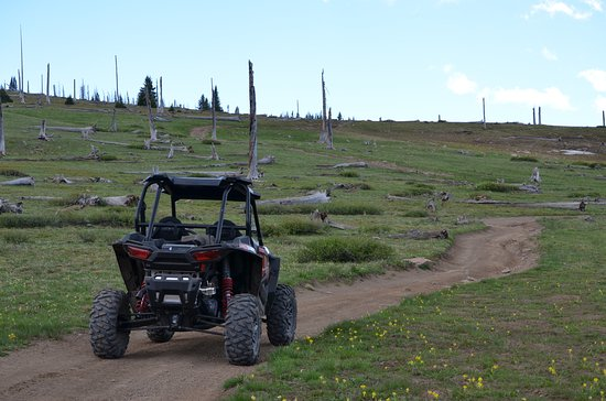 Colorado Sled Rentals: Farewell Mountain views