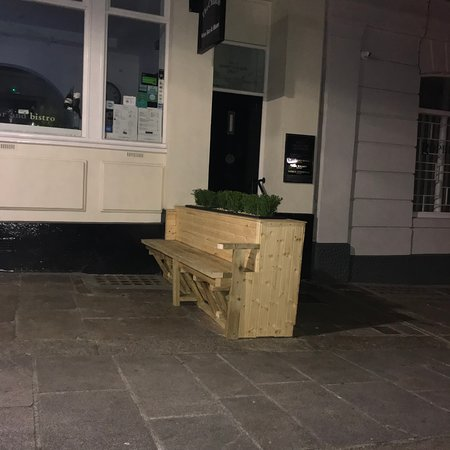 The Chancel: Not an all wood DIY piano but an unusual pavement bench.