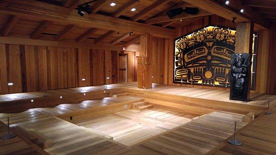 Sealaska Heritage - Walter Soboleff Building: reconstruction of traditional house, used for ceremonies