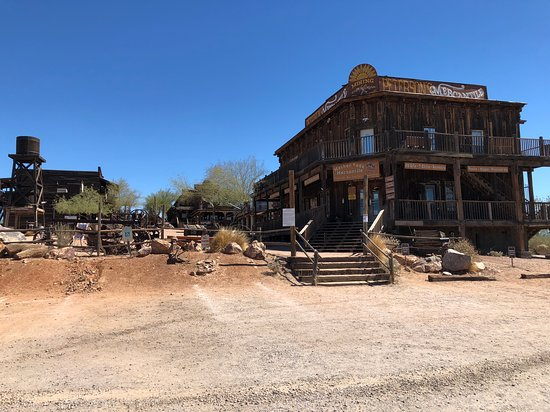 Goldfield Ghost Town: View from the car.