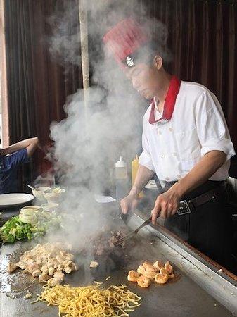 Lynbrook, NY: Hibachi Chef at work