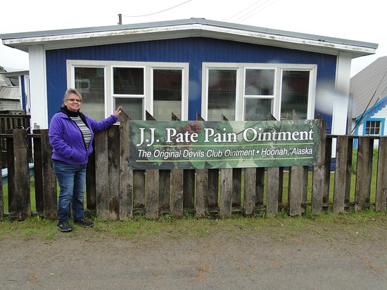 Hoonah, AK: JJ Pate in front of her house!