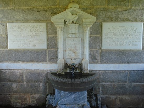 Andersonville, GA: Well spring monument.