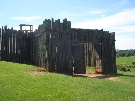 Andersonville, GA: Restored North Gate.