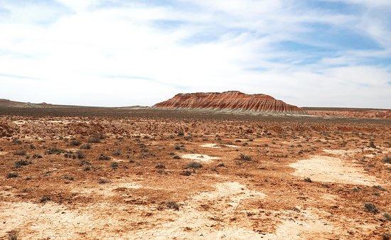 Balkanabat, Turkmenistan: Desert Around Gozli Ata Mausoleum