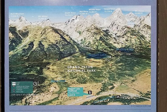 Trail map at Taggart-Bradley Lakes parking lot - Picture of Taggart ...