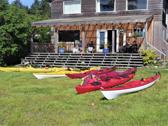 Sandspit B&B Kayakers getting ready to go