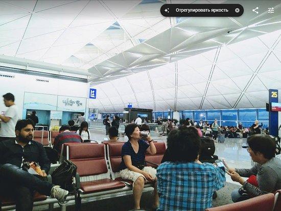 Cathay Pacific: Гонконг,зона горячей воды в транзитной зоне