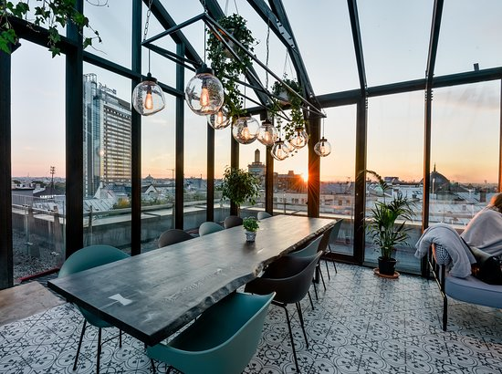 Roof Top Terrace; Perfect place for a drink and a decent meal