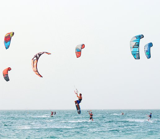 Dubai, United Arab Emirates: Test your surfing skills now or simply unwind at Kite Beach