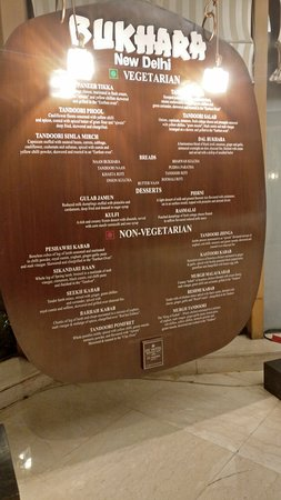 Bukhara: The stone menu