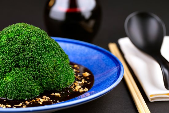 Asia Republic: Broccoli with Mushroom Sauce