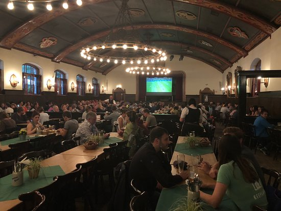Augustiner-Keller: Inside the beer hall. I love the size of these rooms!