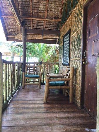 San Isidro, الفلبين: Balcony in our hut