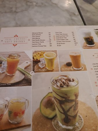 Warung Leko: menu minuman